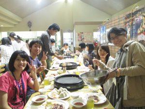夕食(9/1合宿)
